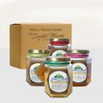 Paquete con 4 variedades de miel