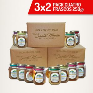 3×2 Pack 4 frascos 250gr