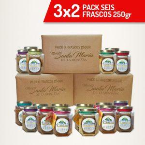3×2 Pack 6 frascos 250gr