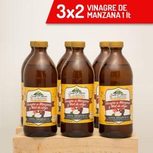 3×2 Vinagre de manzana y miel de abeja